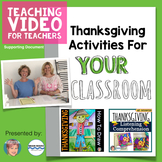 FREE Thanksgiving Activities to support LISTENING COMPREHENSION