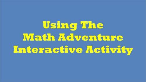 Math Adventure Interactive Activity-Thanksgiving! (On Google Slides) Template