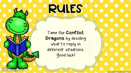 An INTERACTIVE Lesson: When Conflicts Turn Into Monsters, Grades 2-3