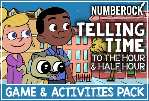 Telling Time to the Hour and Half Hour Song with Worksheets, Bingo, & MORE!