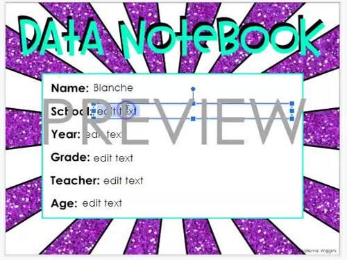 Happy Kids Theme Data Notebook (PDF & Google Classroom) Distance Learning