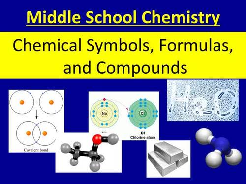 Chemical Symbols, Formulas, and Compounds - A Middle School Introduction