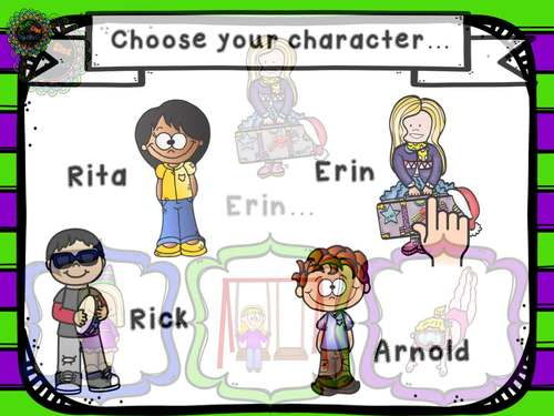 Build an R and R-blend Articulation Sentence Scene No Print