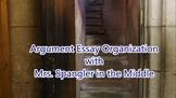 Argument Essay Organization with Pixanotes® + Dominoes Gam