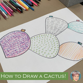 Distance Learning Teaching Video: How to draw a cactus