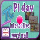 STEAM Pi Day Interactive Word Wall Activity Growth Mindset