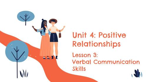 Unit 4 Lesson 3: Verbal Communication Skills (Speaking and Listening)