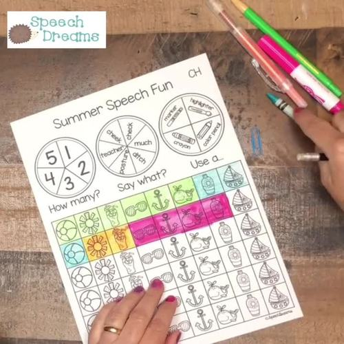 Triple Fun Winter Speech Therapy Spinning Activity {articulation}