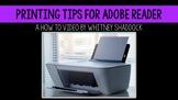 Printing Tips for Adobe
