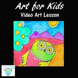 Video Art Lesson: Learn to Draw and Watercolor Paint a Dan