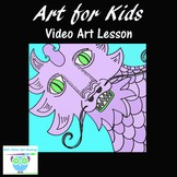 Directed Drawing: Step-By-Step Dragon Drawing Video for Bu
