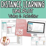 Line Plot Distance Learning Video & Student Practice Pages