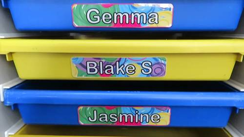 Editable Large Drawer and Storage Tray Labels