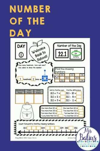 Number Sense GOOGLE SLIDES™ Number of the Day Second Grade Bundle