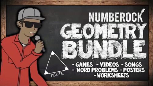 Fun Geometry Review  ★ Songs, Games, Worksheets, & Word Problems ★ Math Centers