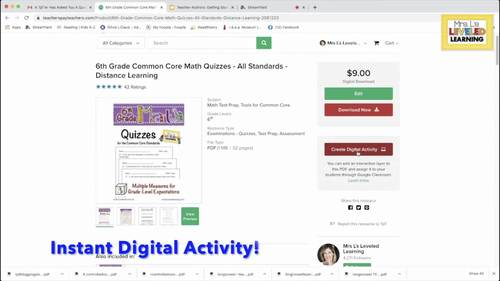 8th Grade Common Core Math Quizzes - All Standards - Distance Learning