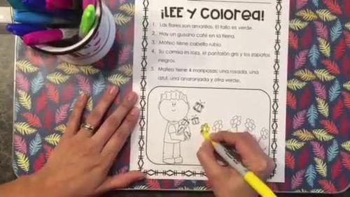 COMPRENSIÓN DE LECTURA/LEO Y COLOREO