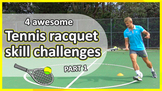 Tennis racquet challenges: Part 1 (grades K-3) | Striking