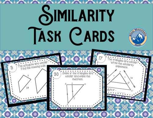 Similarity  Task Cards