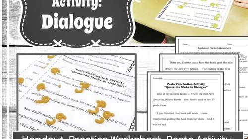 Writing Dialogue Activities