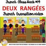 """14 French Class Transition Video """"Make Two Rows"""" for CI TC"""