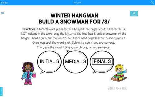 Articulation BOOM Cards™ BUNDLE - Build A Snowman - S and S-Blends