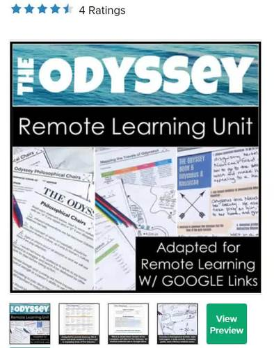The Odyssey Distance Learning Unit With Google Links For Remote And Online