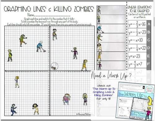 Graphing Lines and Killing Zombies ~ Graphing in Slope ...