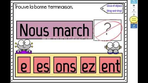 French Verbs Verbes En Er 1 Groupe Conjugaison Pronoms Grammaire