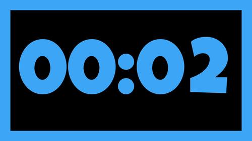 30 NEON & BLACK Video Countdown Timers - For PowerPoint, Google Slides, Keynote
