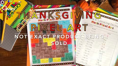 Thanksgiving: Long Division Pixel Art Mystery Pictures