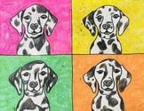 Andy Warhol Inspired Pop Art Dogs Virtual Tutorial