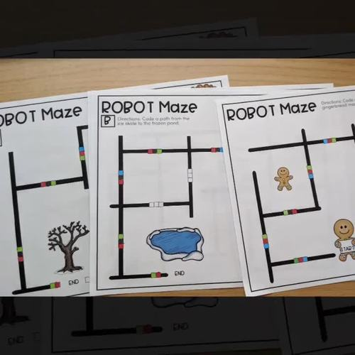 Robot Mazes for Ozobots - Hour of Code or December Coding Activities