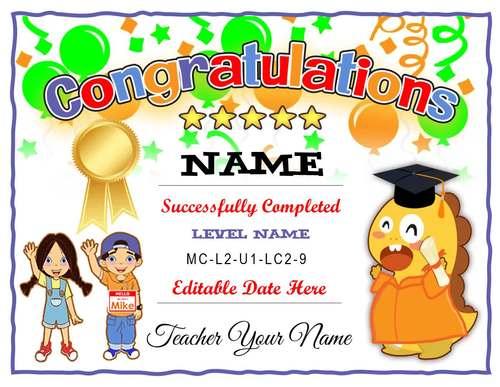 VIPKid Level Completion Certificate ⭐ Editable⭐ ESL ⭐ SALE ⭐ Teach Online VIPKID
