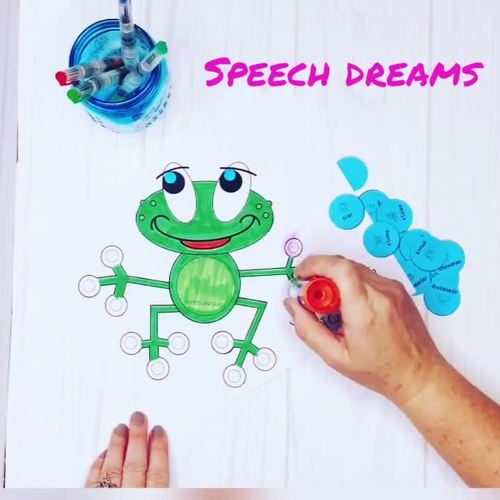 Speech Therapy Craft Activity Frog