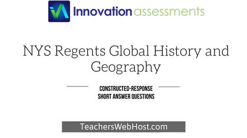 "Regents Global 9 Constructed Response (""CRQ""), Frameworks 9.5 no. CRQ345346"