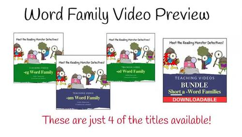 Word Family -am Teaching Video & Workbook (Monster Detectives)