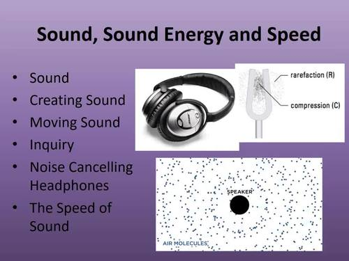 Sound, Sound Energy and Speed - A Physics Lesson Package