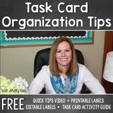 Task Card Organization FREEBIE - Editable Task Card Labels