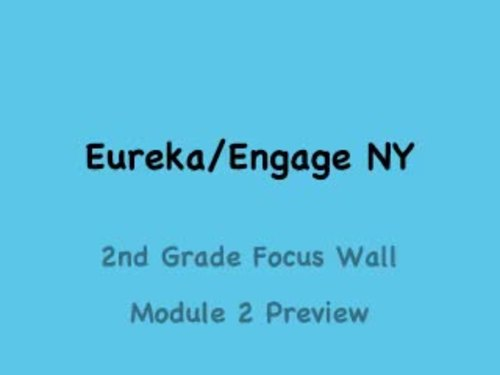 Eureka Math Engage NY Focus Wall - 2nd grade (with vocabulary)