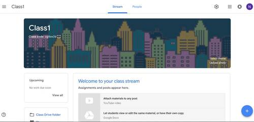Animated Google Classroom Headers (Cityscape) for Distance Learning