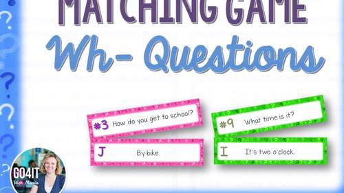 Wh- Questions Marching Game (8 sets, Total of 96 cards)