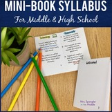 Back to School Syllabus Mini-Book:  EDITABLE!