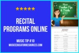 Music Teacher Tip #10: Recital Program Online