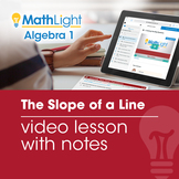 The Slope of a Line Video Lesson with Guided Notes | Good