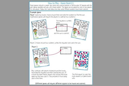 Addition and Subtraction Games for Fact Fluency - December