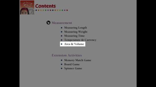 Measurement: Area & Volume - Learn the Skill - MAC Gr. PK-2
