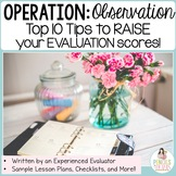 Teacher Evaluation and Observation Tips