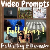 FULL YEAR VIDEO Writing Prompts Discussion Prompts + Worksheets