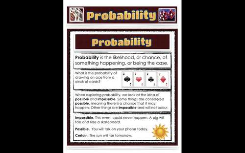Math Education - Probability PDF - Spinners, 63 Colourful Informative Pages